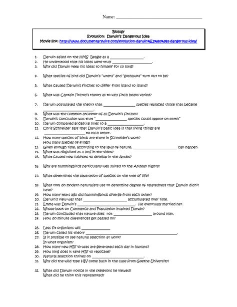 10 best images of evolution review worksheet answers