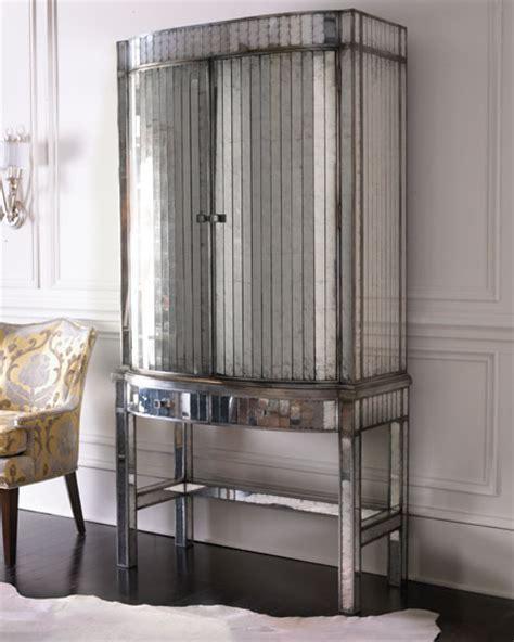 "John Richard Collection ""Viola"" Mirrored Bar Cabinet"