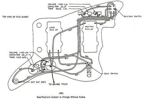 Jazzmaster Wiring Diagrams Guitar Building
