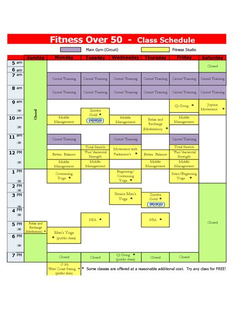 class schedule template   templates   word