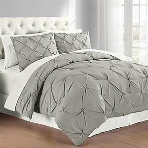Buy Pintuck FullQueen Comforter Set In Grey From Bed Bath