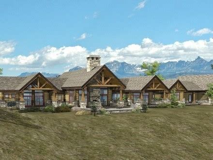 Ranch Style Log Home Floor Plans by Hill Country House Plans Ranch Homes Floor