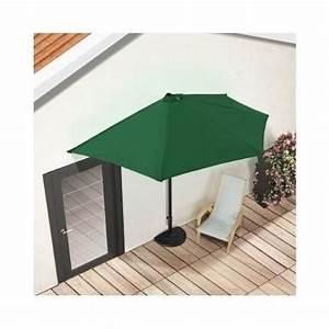 green half round parasol garden terrace umbrella sun shade With katzennetz balkon mit sun garden parasol