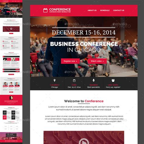conference event  newsletter psd template