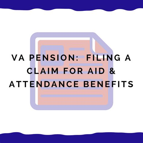 va benefits claim form va pension filing the actual claim for aid attendance