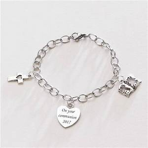 "Girls ""On Your Communion"" Charm Bracelet with Cross, Bible ..."