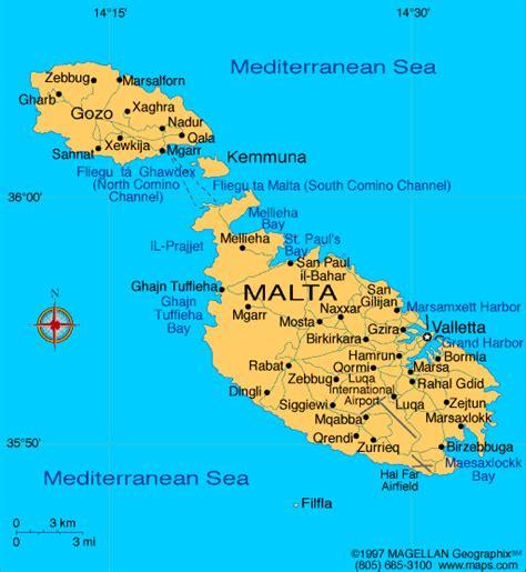 malta map infoplease