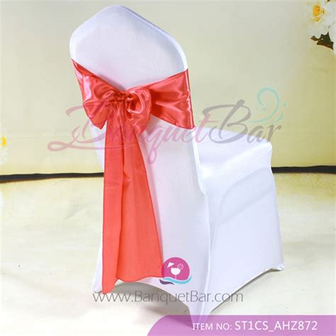 watermelon satin chair sash wedding chair sashes for sale