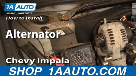 How Replace Alternator Chevy Impala Youtube