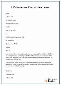 Cancellation Of Contract Letter Insurance Cancellation Letter Template Format Sample
