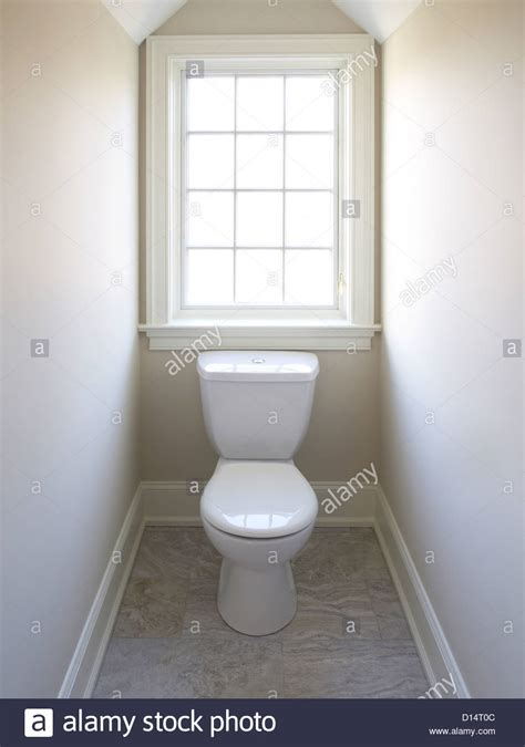 downstairs bathroom ideas toilet window in small room stock photo royalty