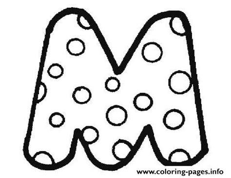 bubble letters a z letter m coloring pages printable 20715 | 1474769465bubble letter m
