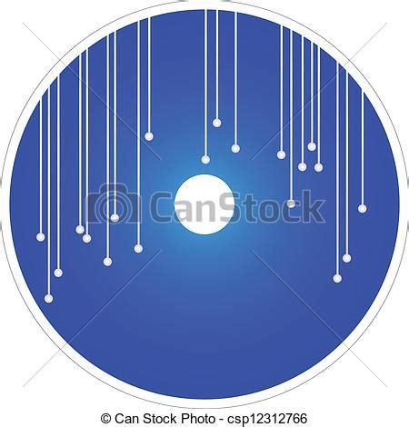 Clip Art Vector Of Vector Blue Cd And Dvd Elegant