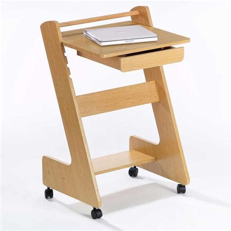 rolling laptop desk small computer desk office furniture