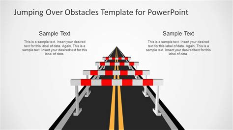 jumping obstacles   road powerpoint template