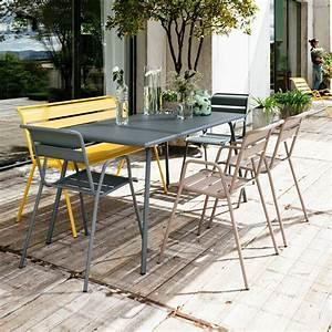 salon de jardin fermob monceau table l146 l80cm 4 With table de jardin fermob