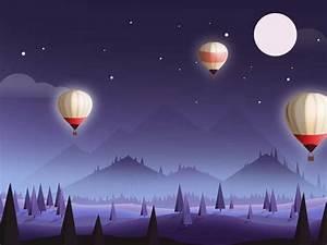 Hot Air Balloon Night1 by Tang - Dribbble