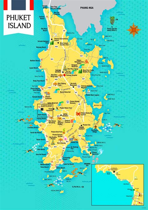phuket tourist attractions map