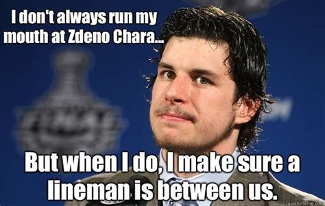 Playoff Beard Meme - i don t always run my mouth at zdeno chara but when i do i make sure a lineman is between us