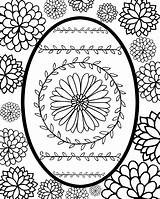 Easter Egg Printable Coloring Print Faberge sketch template
