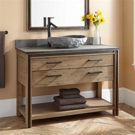 celebration vessel sink vanity rustic acacia