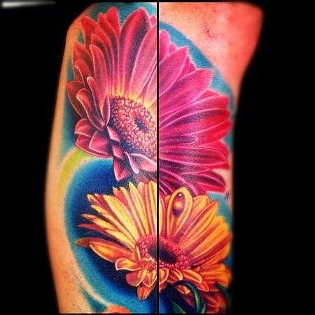 tattoo education tattoos nikko color flowers tattoo