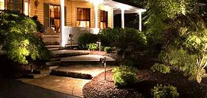 Low voltage exterior lighting create an eye catching