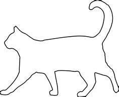 walking cat craft pattern cat outline cat template cat