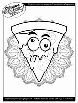 Coloring Pizza sketch template