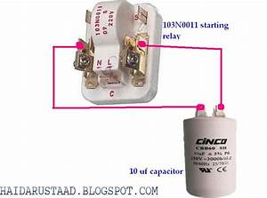 How To Connect Capacitor To 103n0011 Starting Relay
