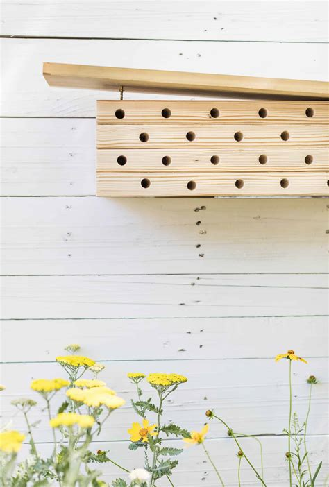 Modern Mason Bee House DIY A Beautiful Mess