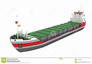 Cargo ship or freighter stock illustration. Image of ...
