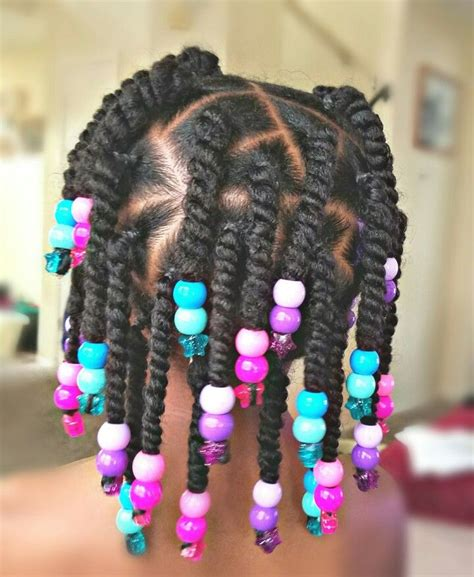 black little girl hairstyles with beads twists and beads styles for little black girls chica