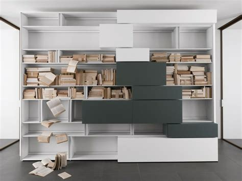 bibliotheque moderne  design pour  rangement avec finesse