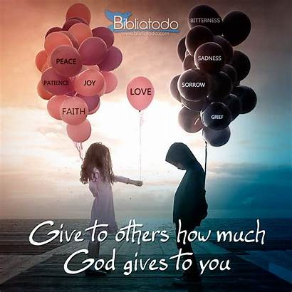 God Give Others Gives Much Lifting Christian