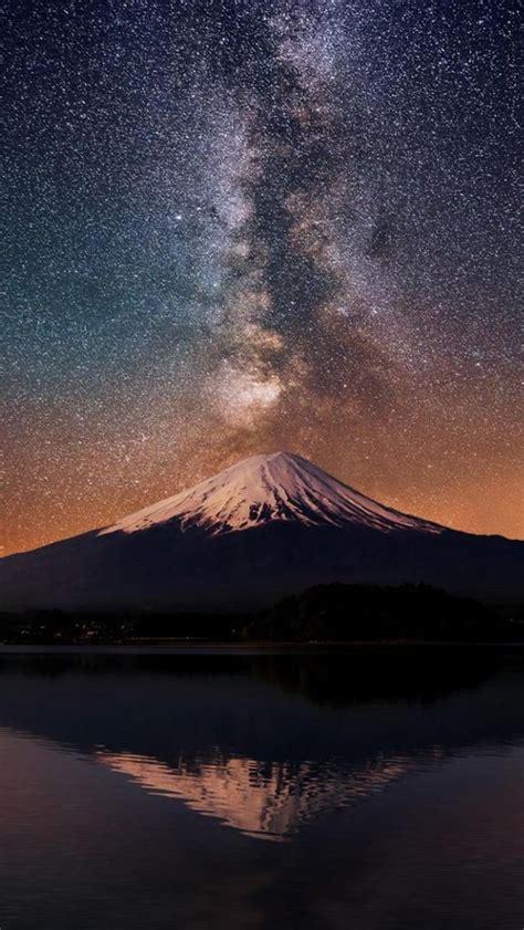 Orange Sky Wallpaper Iphone by Way Mt Fuji Iphone 5s Wallpaper Iphone 5