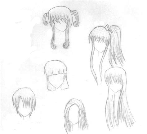 New idea's for anime hair by Amulet Cross on DeviantArt