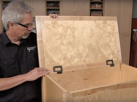 install lid supporting torsion hinges woodworking