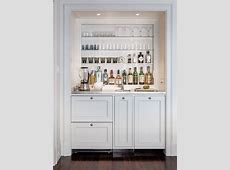 Lovely Small Wet Bars with Bar Shaker Cabinets White