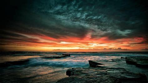 nature sunset rock wallpapers hd desktop  mobile