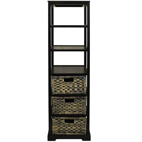 miami tall  cubby  drawer storage tower shelves
