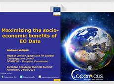 Maximizing the socioeconomic benefits of EO Data