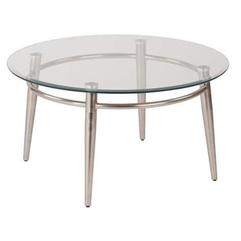 silver glass coffee table tempered glass round top coffee table in silver mg1230r nb