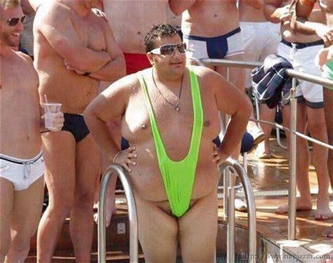 guy bikini borat swimsuit on fat guy picture of the day pinterest