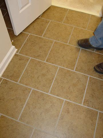 Floor tile layout   more interesting and forgiving than