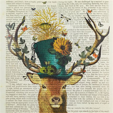 stag print by home & glory   notonthehighstreet.com