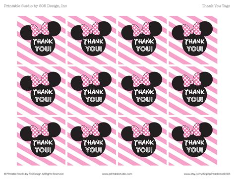 pink minnie mouse   tags printable studio