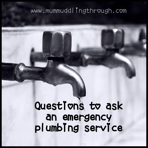 emergency plumbing service questions to ask an emergency plumbing service