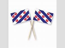 Cocktailprikkers met Friese vlag, Friesland Kaasprikkers