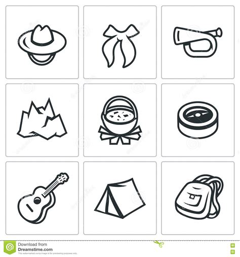 Vector Set Of Scouting Icons. Stock Vector - Image: 75069094